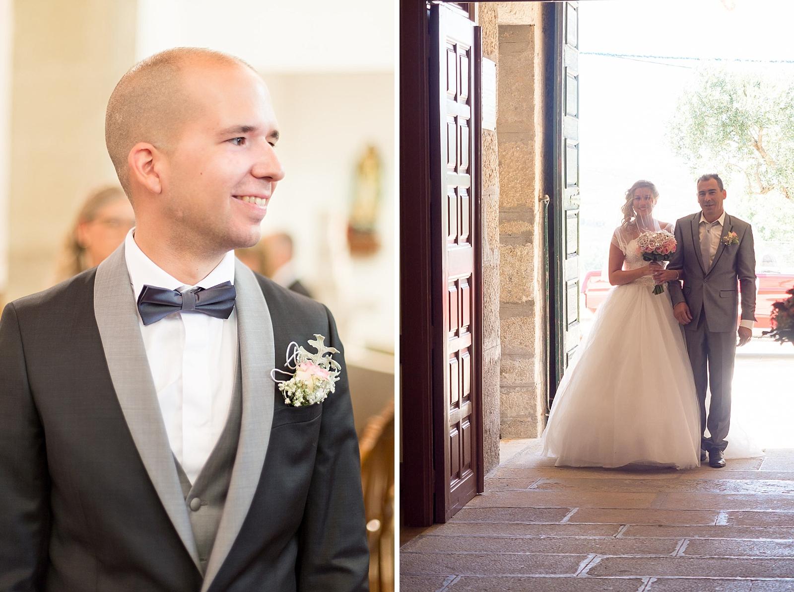 l'entrée des mariés église de Queiriga Portugal