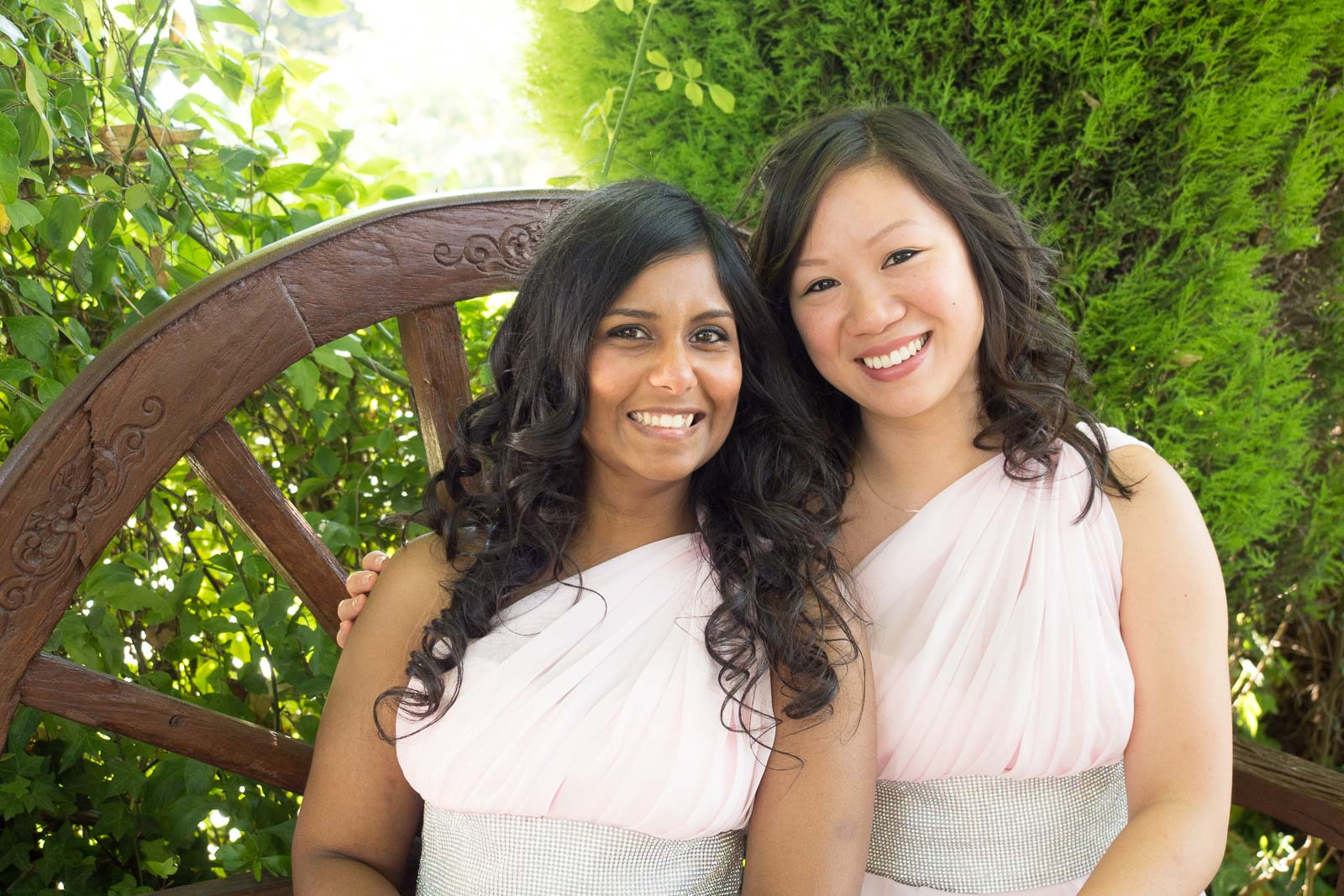 Demoiselles d'honneur robe rose pâle
