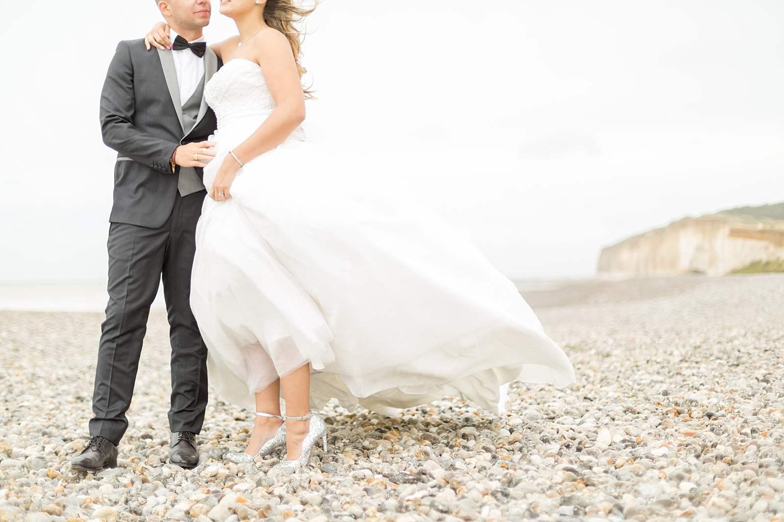 mariage sur les galets, normandie