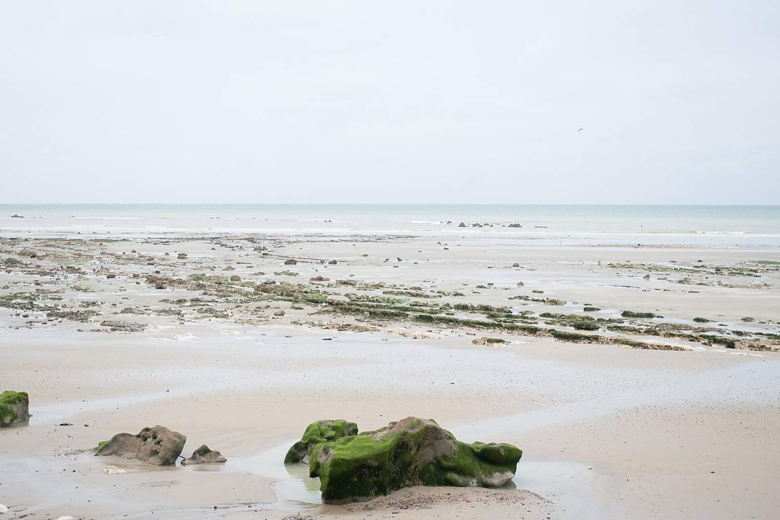 photographie de voyage, Normandie, france, plage de Vasterival à marée basse
