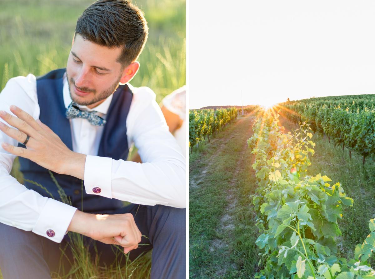 coucher de soleil dans les vignes, mariage champêtre