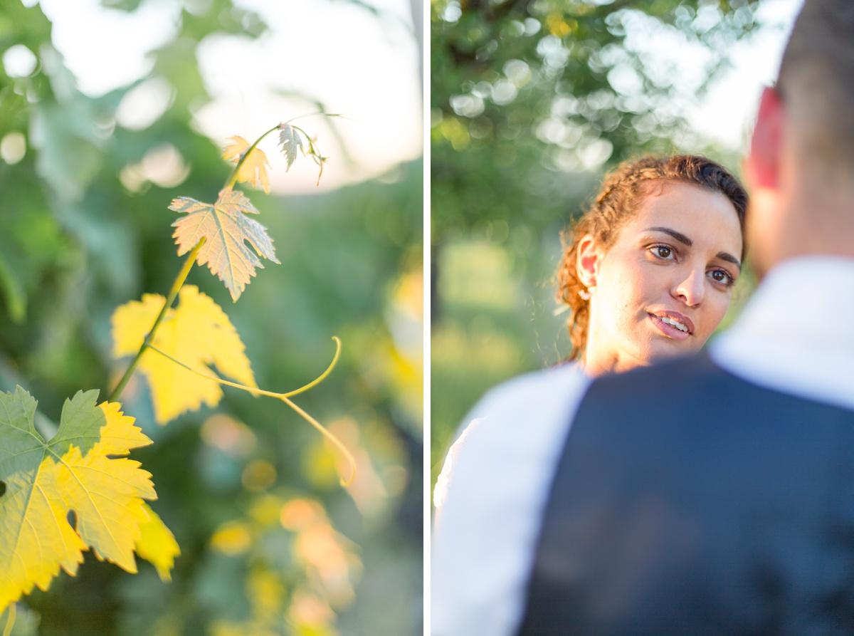 photographe portrait de mariage coucher de soleil