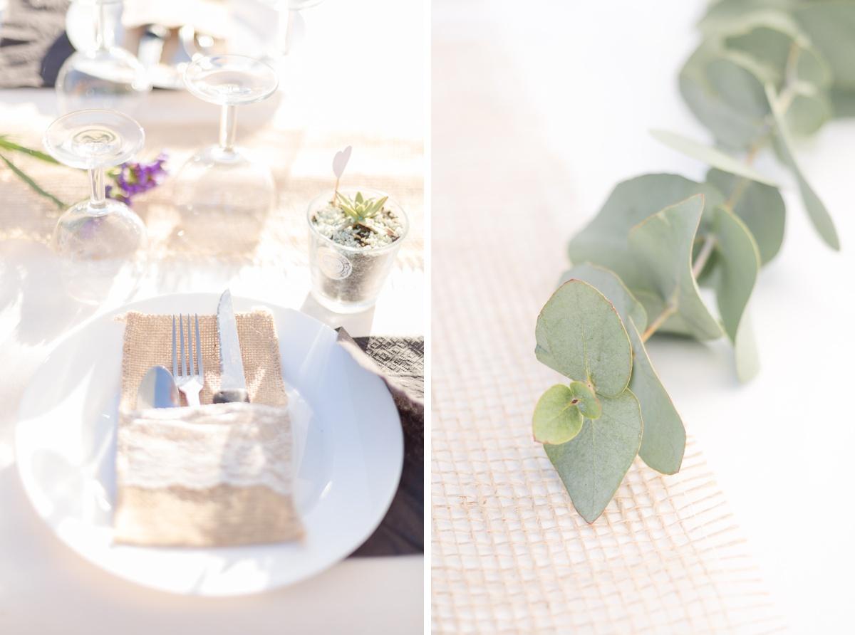 Table de mariage champêtre