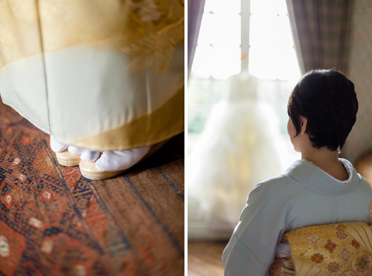 détails mariage Robe traditionnelle Japonaise