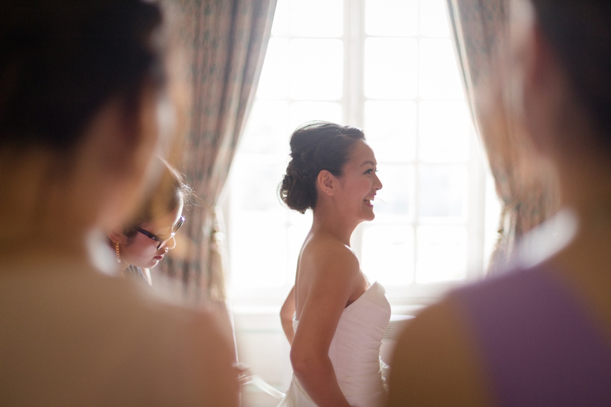 préparatifs de la mariée et des demoiselles d'honneur