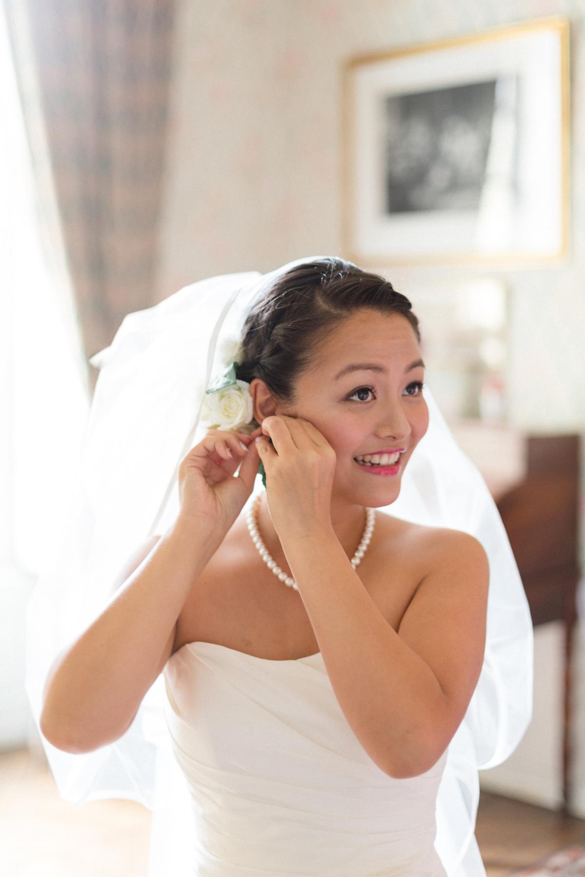 Portrait mariée préparatifs