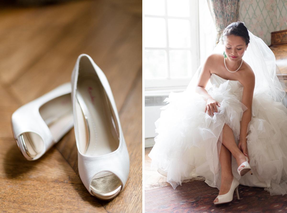 Détails mariage chaussures