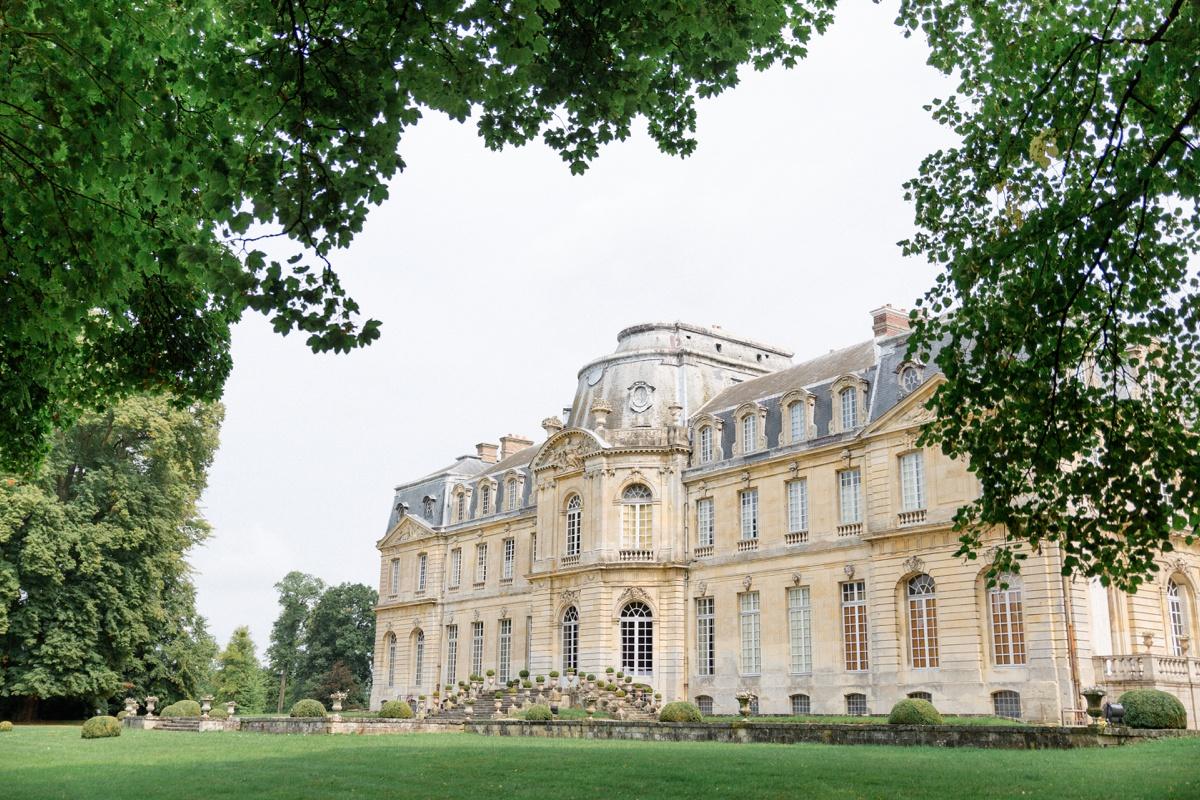 château de Champlâtreux vue coté jardin
