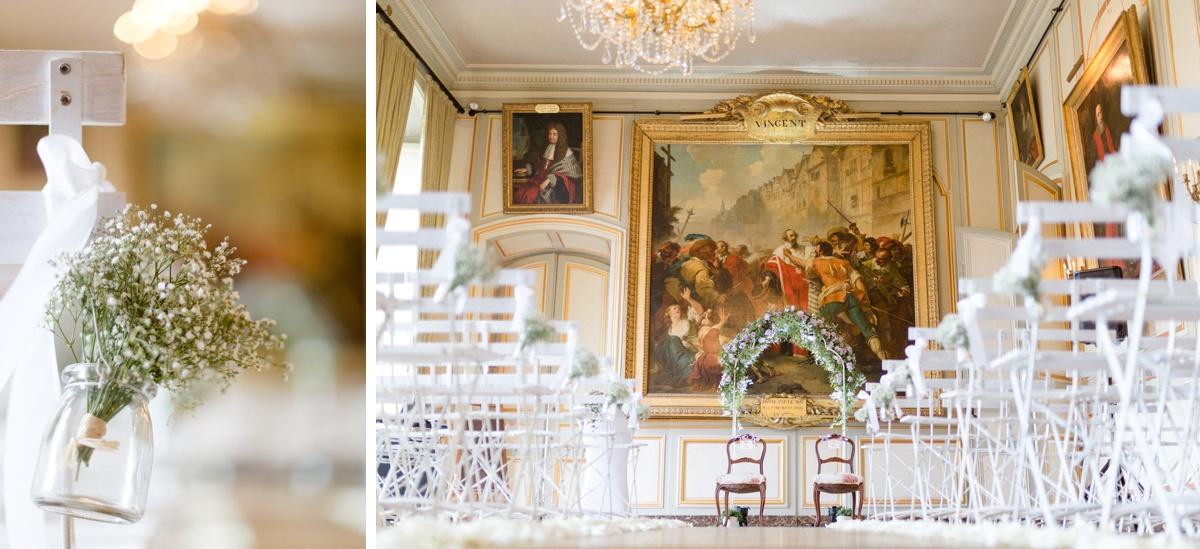 Décoration cérémonie laïque château champlâtreux. mariage france