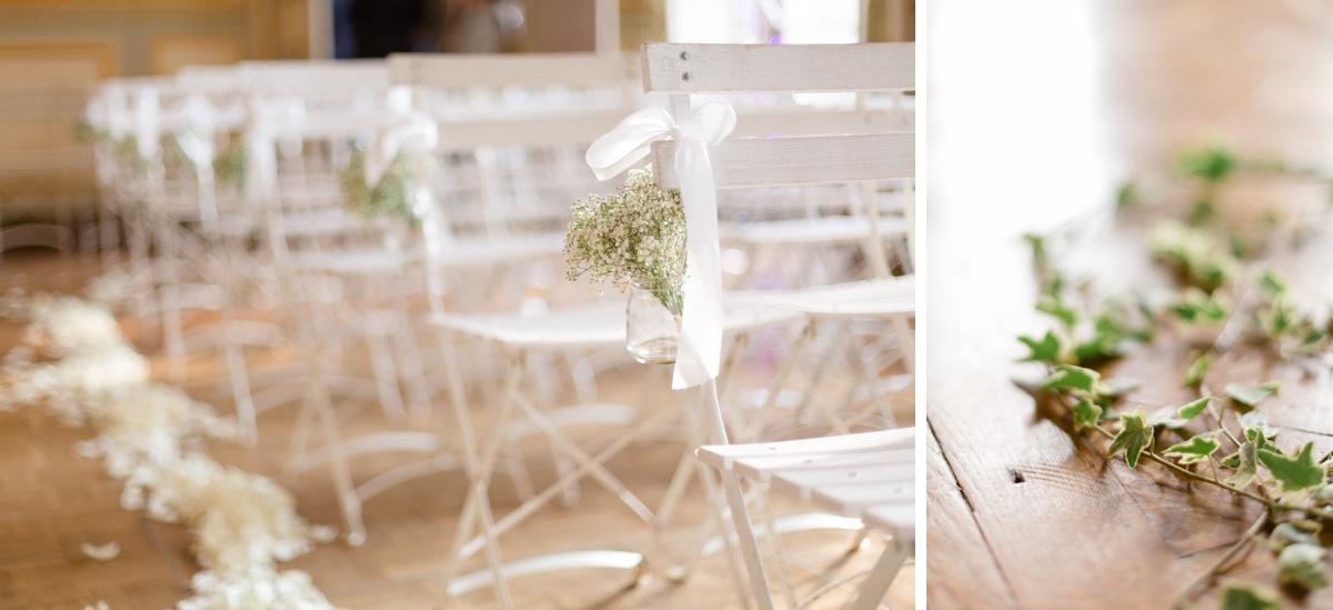 décoration florale mariage romantique au château