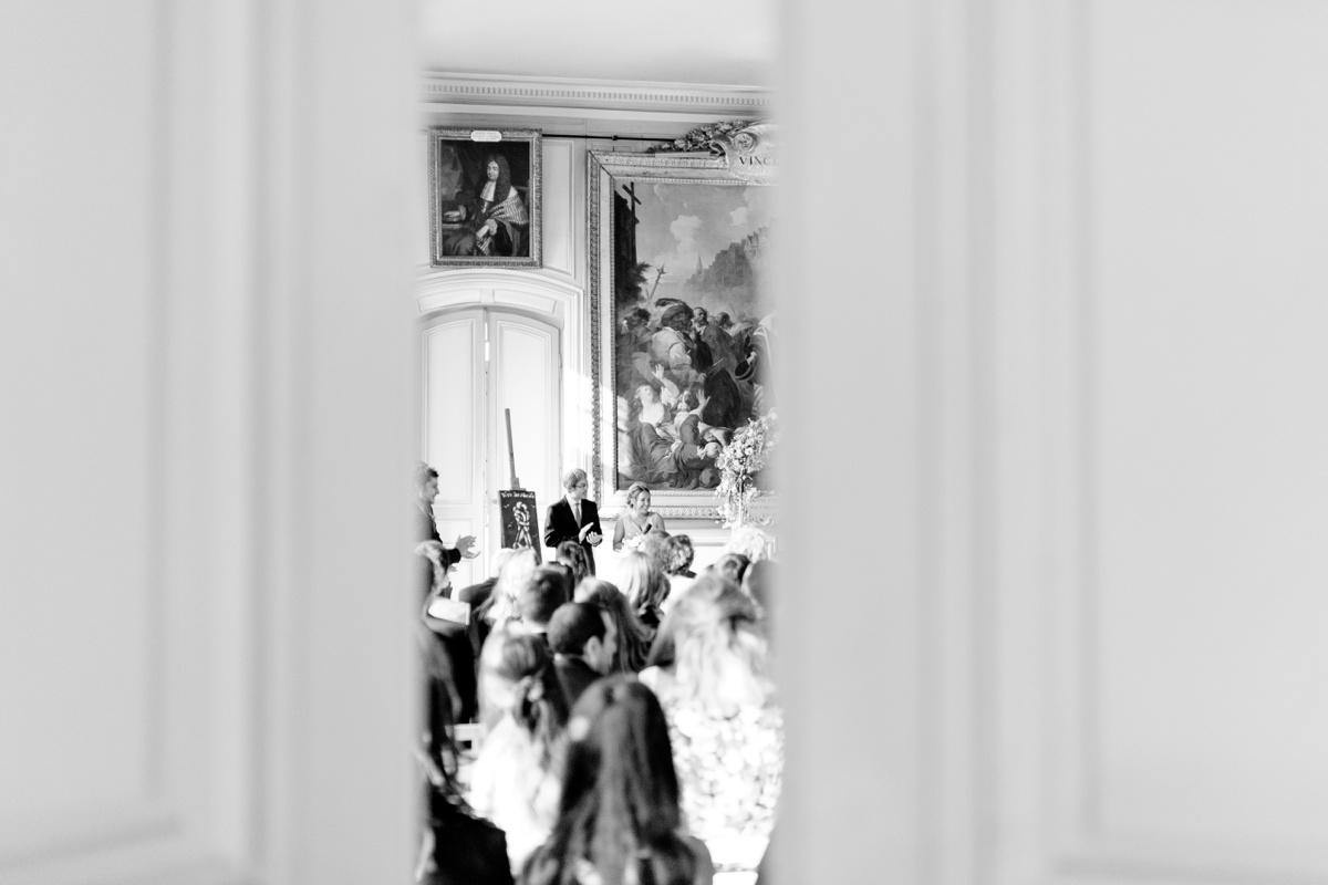 Cérémonie laïque mariage romantique chateau de champlatreux