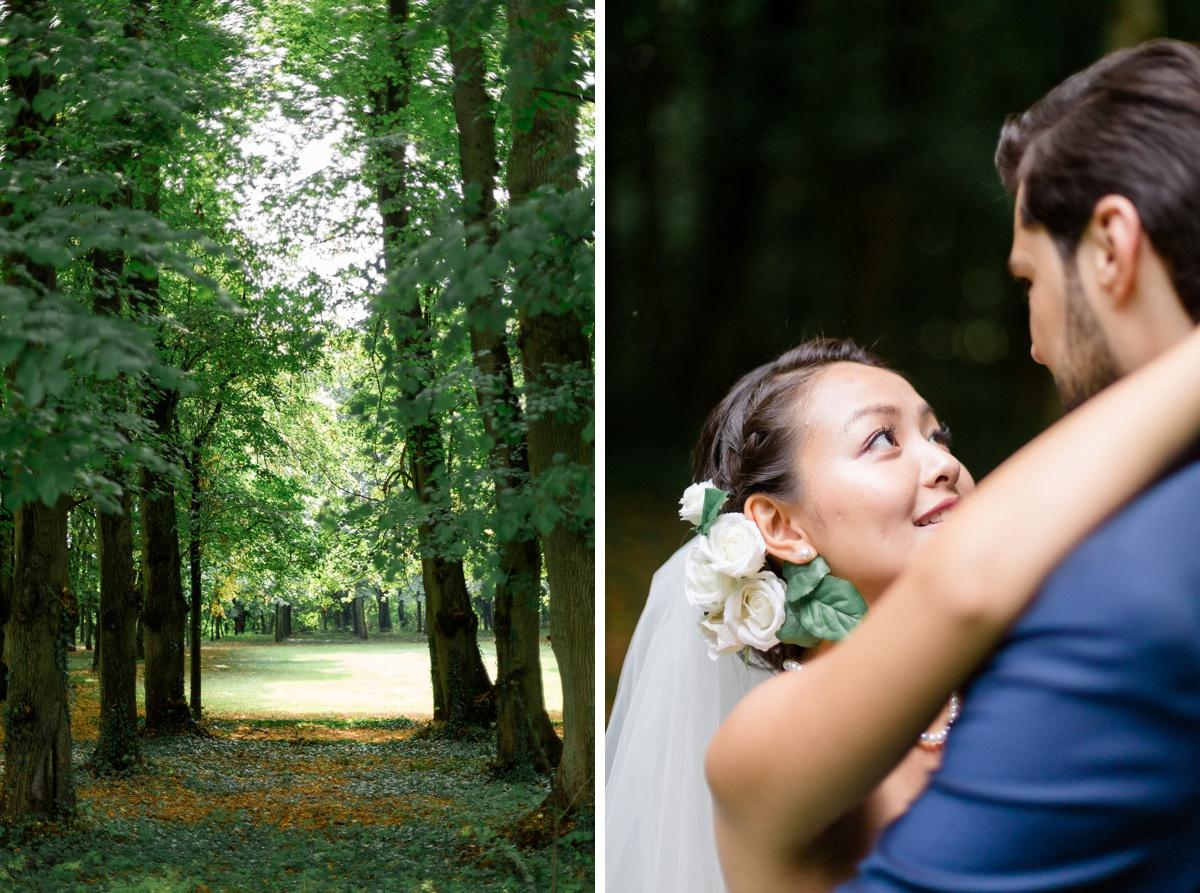 Nature portrait mariés regards