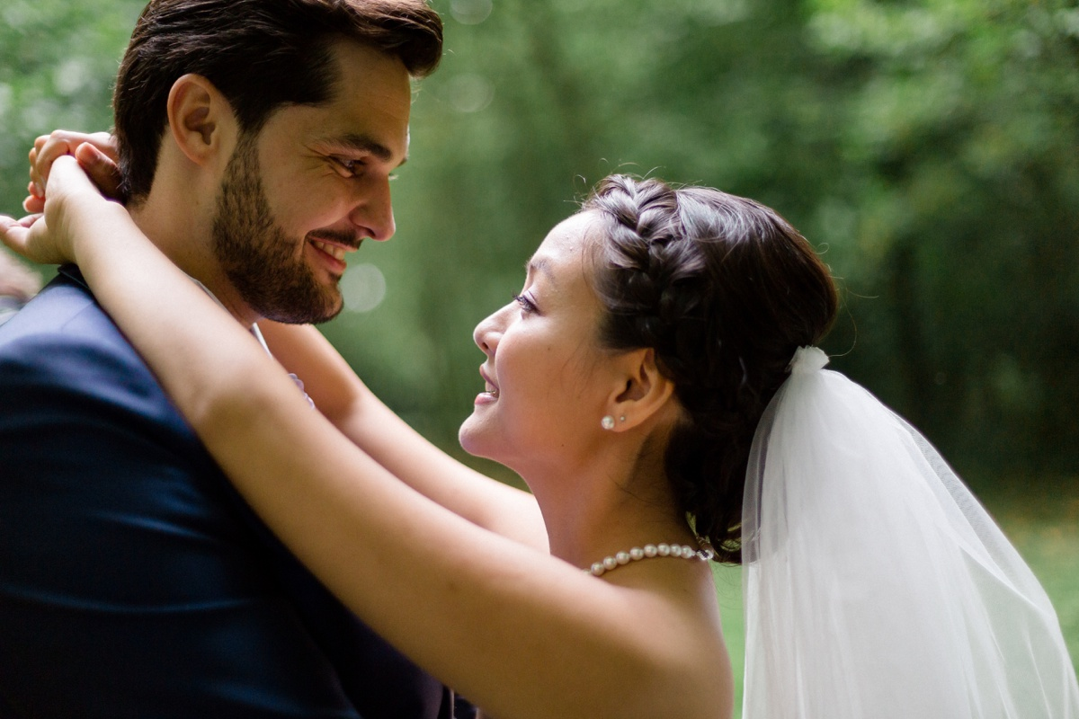 mariage franco-japonais. romantique. portrait des mariés