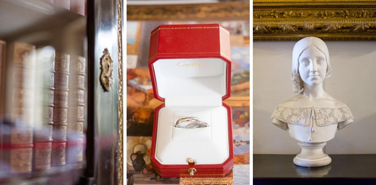 Alliances mariage Cartier, détails intérieur du château de champlâtreux