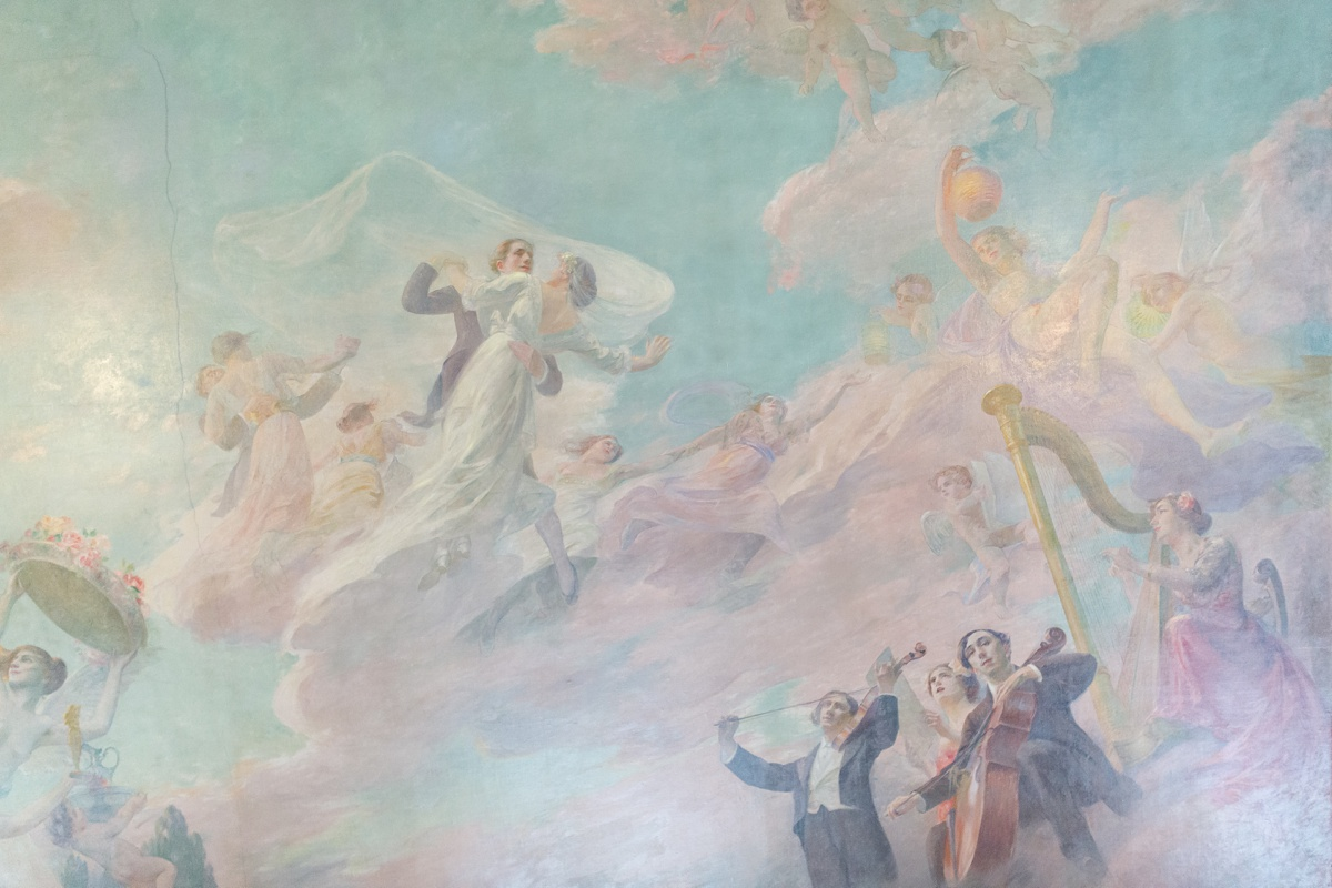 Fresque peinture danse