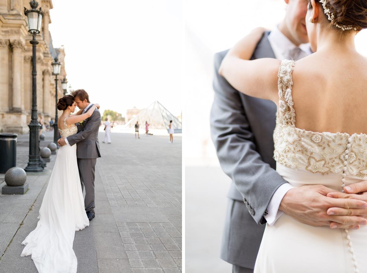 Séance couple mariés Louvre - Paris mon amour