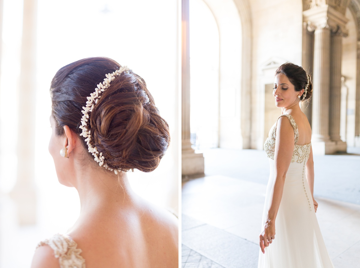 Coiffure coquillage mariage