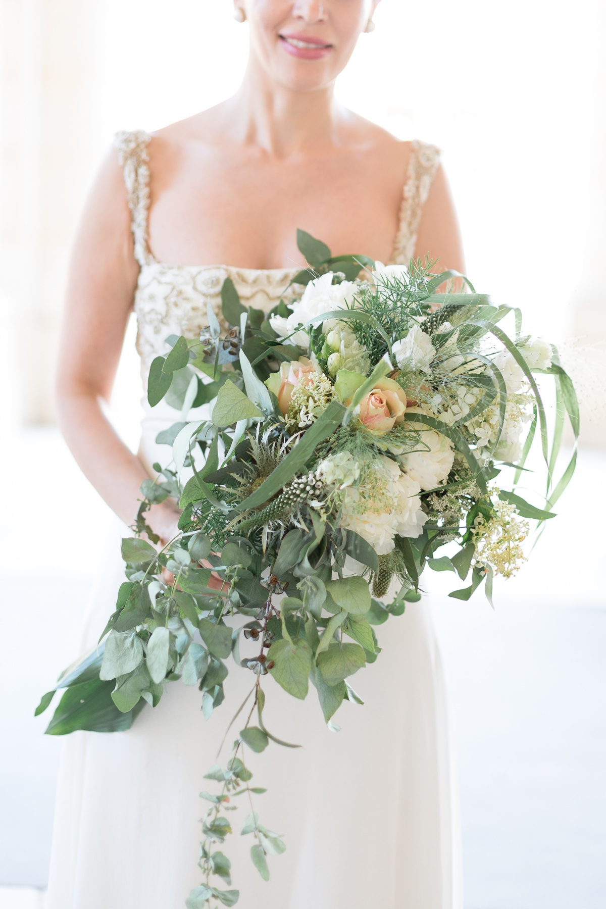 Bouquet mariage champêtre eucalyptus