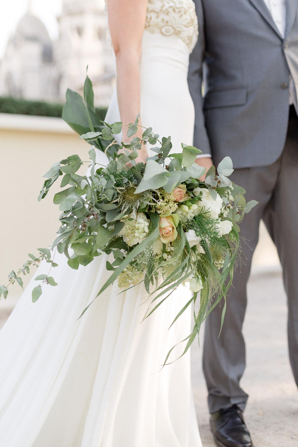 Bouquet végétal mariage Montmartre