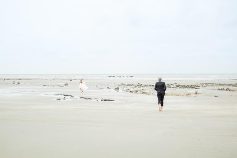Photographe mariage sur la plage Normandie France